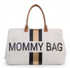 Childhome přebalovací taška Mommy Bag Big - Off White/Black Gold