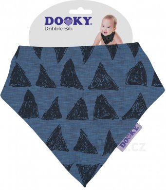 Dooky Dribble Bib bryndáček - Blue Tribal