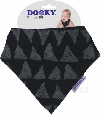 Dooky Dribble Bib bryndáček - Black Tribal