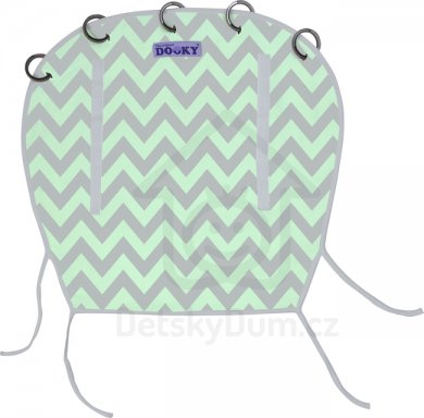 Dooky clona - Reversible - Mint/Grey Chevron