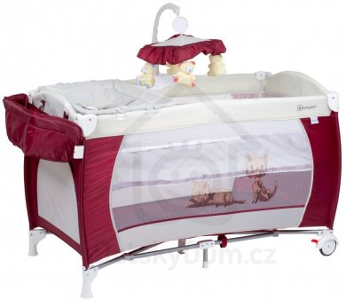 BabyGo postýlka Sleeper Deluxe - Red