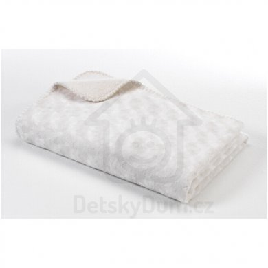 BabyDan Double fleece deka new 75x100 - Off white