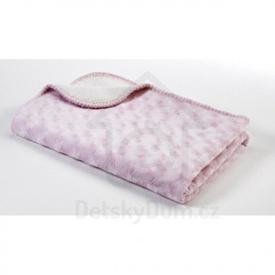 BabyDan Double fleece deka new 75x100 - Růžová