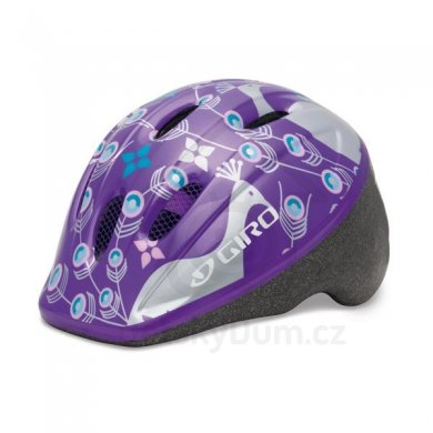 GIRO Přilba ME2 - Purple/silver eleanor peacocks