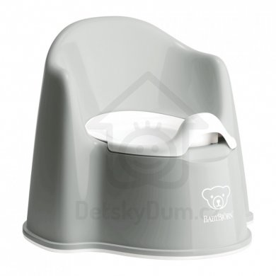 BabyBjörn nočník křesílko Potty Chair - Grey/White