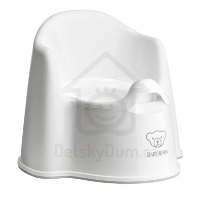 BabyBjörn nočník křesílko Potty Chair - White/Grey