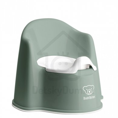 BabyBjörn nočník křesílko Potty Chair - Deep Green/White