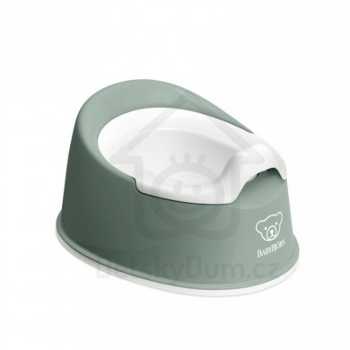 BabyBjörn nočník Smart Potty - Deep Green/White