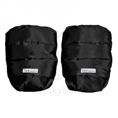 7AM Enfant rukavice na kočárek WarMMuff - Black