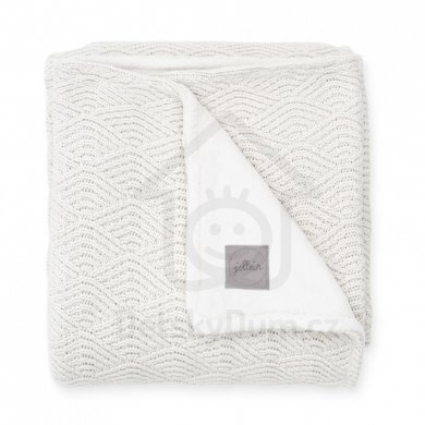 Jollein deka River Knit 75 x 100 cm - Cream White/Coral