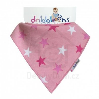 Dribble Ons  - Pink Stars