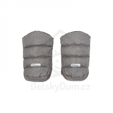 7AM Enfant rukavice na kočárek WarMMuff - Heather grey