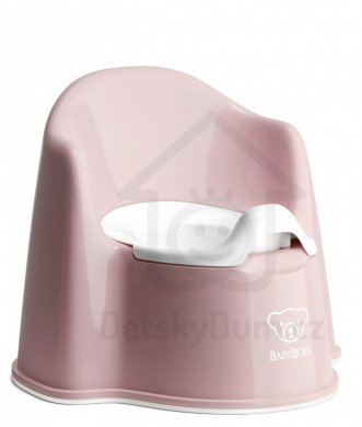 BabyBjörn nočník křesílko Potty Chair - Powder Pink/White