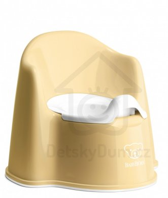 BabyBjörn nočník křesílko Potty Chair - Powder Yellow/White